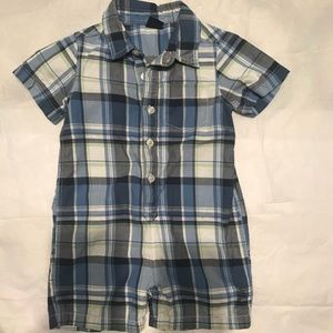 Plaid shorty One Piece from Baby Gap sz 18-24 mths